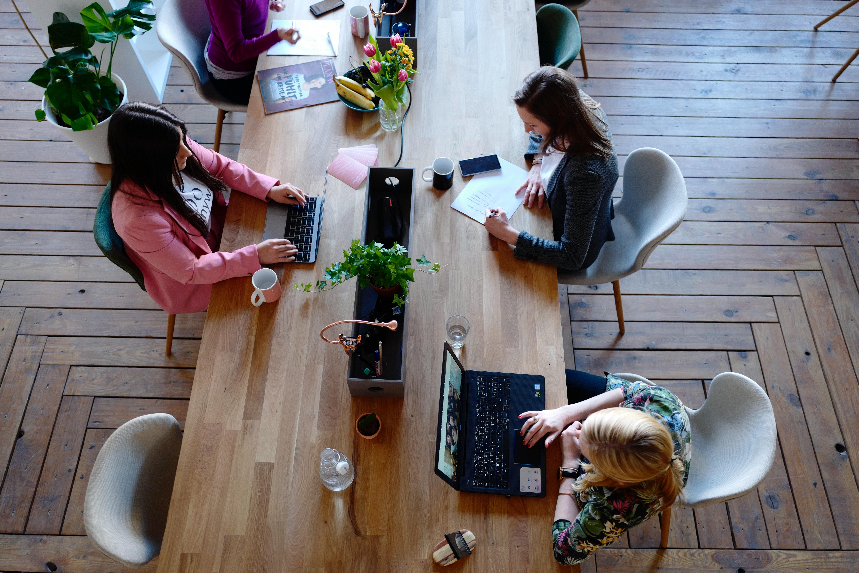 desk of writers